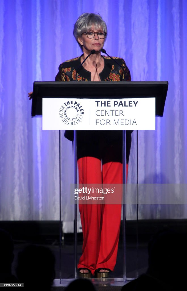 Actress Rita Moreno speaks at Paley Honors in Hollywood: A Gala Celebrating Women in Television at the Beverly Wilshire Four Seasons Hotel on October 12, 2017 in Beverly Hills, California.