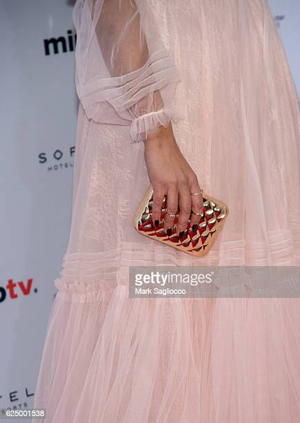 Actress Rita Pereira purse detail attends the 2016 International Emmy Awards at the New York Hilton on November 21 2016 in New York City