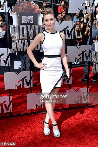 Actress Rita Volk attends the 2014 MTV Movie Awards at Nokia Theatre LA Live on April 13 2014 in Los Angeles California
