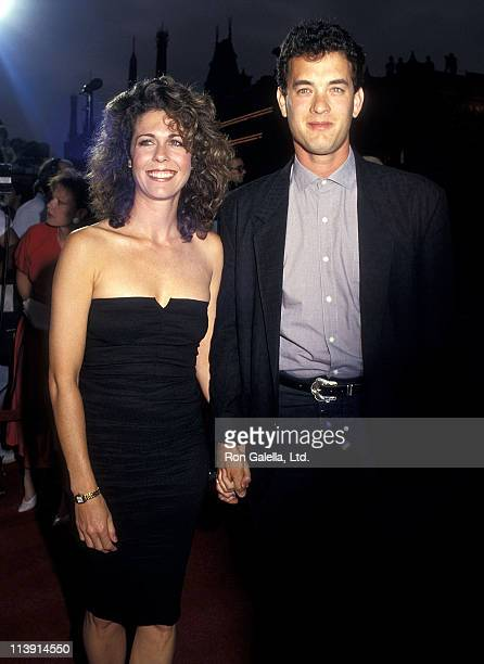 Actress Rita Wilson and actor Tom Hanks attend the 'Dragnet' Hollywood Premiere on June 23 1987 at the Pacific's Paramount Theatre in Hollywood...