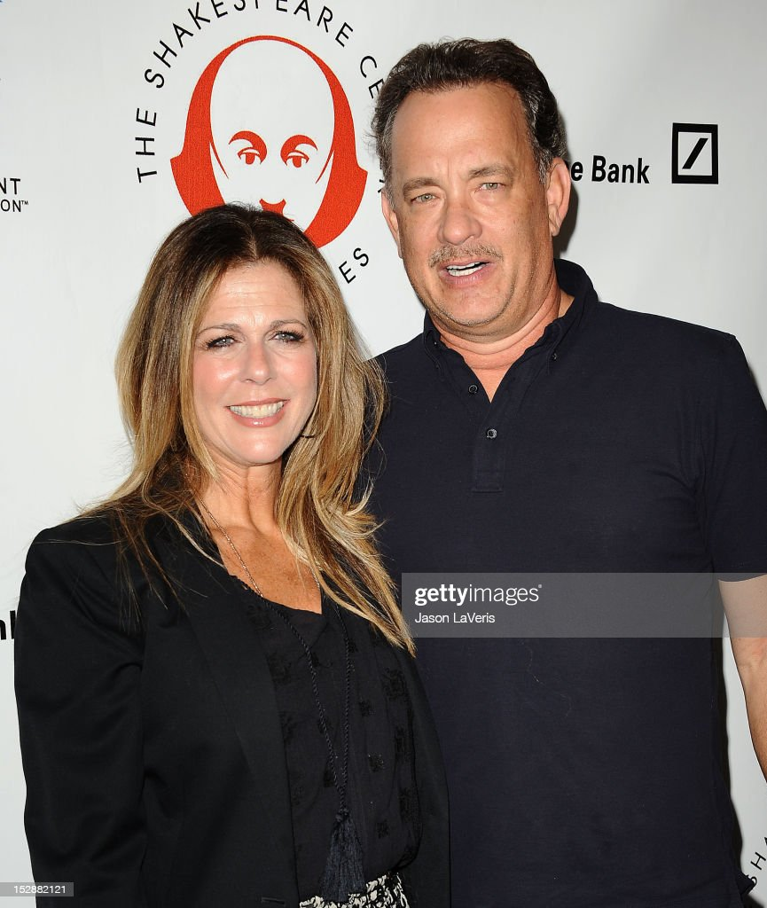 Actress <a gi-track='captionPersonalityLinkClicked' href=/galleries/search?phrase=Rita+Wilson&family=editorial&specificpeople=202642 ng-click='$event.stopPropagation()'>Rita Wilson</a> and actor <a gi-track='captionPersonalityLinkClicked' href=/galleries/search?phrase=Tom+Hanks&family=editorial&specificpeople=201790 ng-click='$event.stopPropagation()'>Tom Hanks</a> attend the Shakespeare Center of Los Angeles' 22nd annual 'Simply Shakespeare' event at Freud Playhouse, UCLA on September 27, 2012 in Westwood, California.