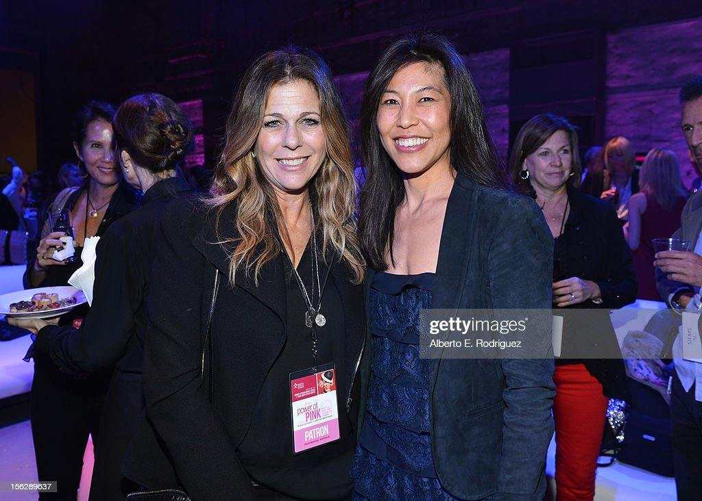 Actress <a gi-track='captionPersonalityLinkClicked' href=/galleries/search?phrase=Rita+Wilson+-+Actress&family=editorial&specificpeople=202642 ng-click='$event.stopPropagation()'>Rita Wilson</a> (L) and Dr. Maggie DiNome attend the St. John's Health Center's Power Of Pink benefiting The Margie Petersen Breast Center at Sony Studios on November 12, 2012 in Los Angeles, California.
