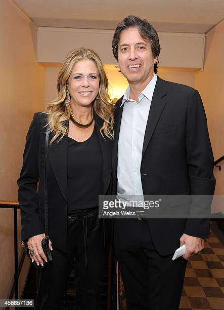 Actress Rita Wilson and host Ray Romano attend the International Myeloma Foundation 8th Annual Comedy Celebration benefiting The Peter Boyle Research...