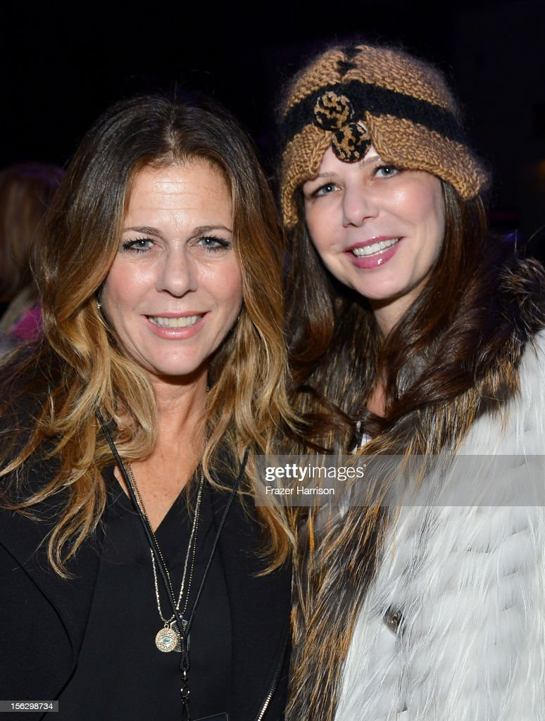 Actress <a gi-track='captionPersonalityLinkClicked' href=/galleries/search?phrase=Rita+Wilson&family=editorial&specificpeople=202642 ng-click='$event.stopPropagation()'>Rita Wilson</a> and Misha Wayne attend the St. John's Health Center's Power Of Pink benefiting The Margie Petersen Breast Center at Sony Studios on November 12, 2012 in Los Angeles, California.