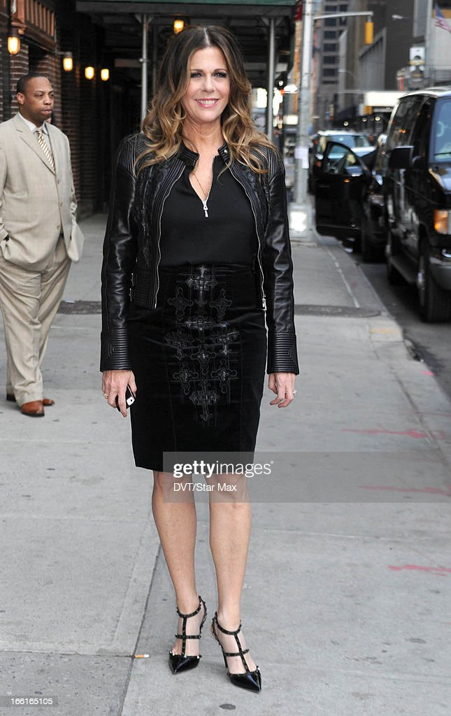 Actress Rita Wilson as seen on April 8, 2013 in New York City.