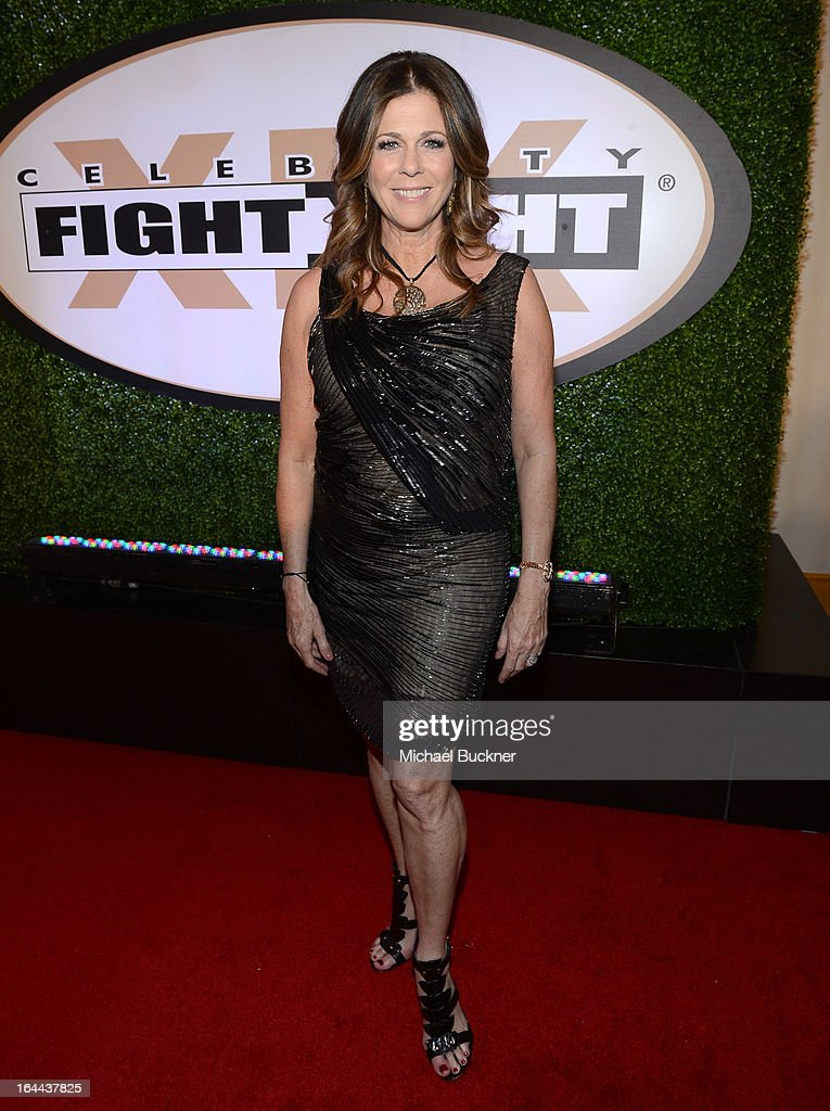 Actress <a gi-track='captionPersonalityLinkClicked' href=/galleries/search?phrase=Rita+Wilson&family=editorial&specificpeople=202642 ng-click='$event.stopPropagation()'>Rita Wilson</a> attends Muhammad Ali's Celebrity Fight Night XIX at JW Marriott Desert Ridge Resort & Spa on March 23, 2013 in Phoenix, Arizona.