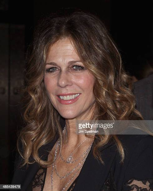 Actress Rita Wilson attends the 25th Anniversary Rainforest Fund Benefit at Mandarin Oriental Hotel on April 17 2014 in New York City