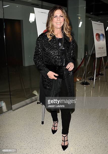 Actress Rita Wilson attends the premiere of 'Fed Up' at Pacfic Design Center on May 8 2014 in West Hollywood California