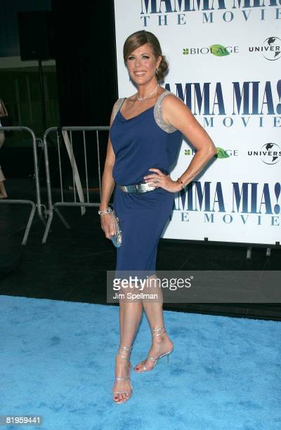 Actress Rita Wilson attends the premiere of 'Mamma Mia' at the Ziegfeld Theatre on July 16 2008 in New York City