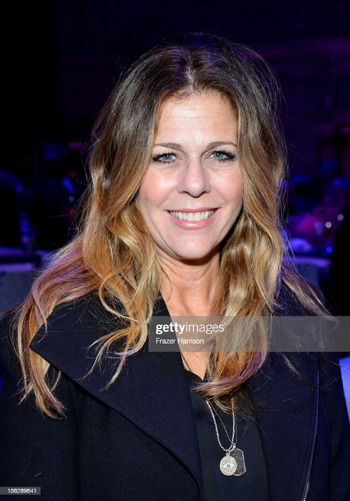 Actress <a gi-track='captionPersonalityLinkClicked' href=/galleries/search?phrase=Rita+Wilson&family=editorial&specificpeople=202642 ng-click='$event.stopPropagation()'>Rita Wilson</a> attends the St. John's Health Center's Power Of Pink benefiting The Margie Petersen Breast Center at Sony Studios on November 12, 2012 in Los Angeles, California.