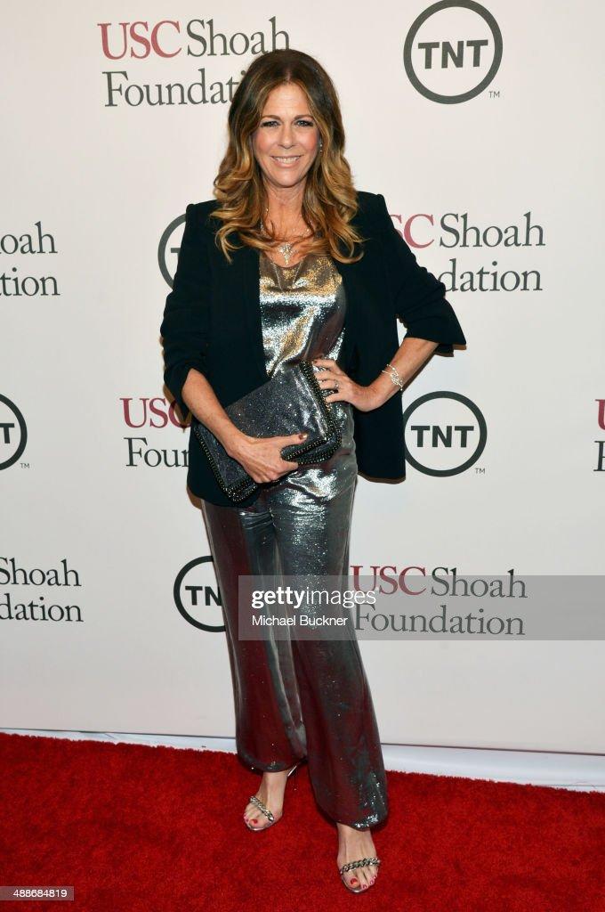 Actress Rita Wilson attends USC Shoah Foundation's 20th Anniversary Gala at the Hyatt Regency Century Plaza on May 7 2014 in Century City California
