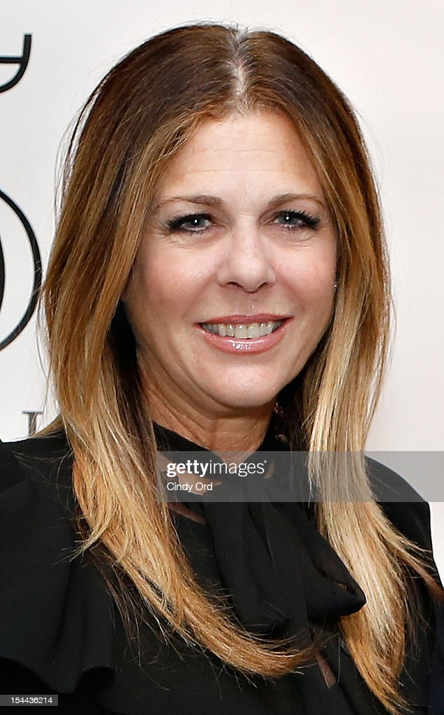 Actress <a gi-track='captionPersonalityLinkClicked' href=/galleries/search?phrase=Rita+Wilson+-+Actress&family=editorial&specificpeople=202642 ng-click='$event.stopPropagation()'>Rita Wilson</a> poses backstage prior to Sherie Rene Scott's performance at 54 Below on October 19, 2012 in New York City.