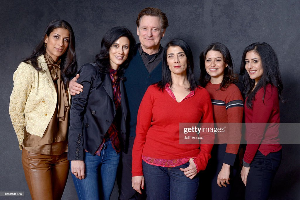 Actress Ritu Singh Pande, filmmaker Cherien Dabis, actors Bill Pullman, Hiam Abbass, Alia Shawkat, and Nadine Malouf pose for a portrait during the 2013 Sundance Film Festival at the WireImage Portrait Studio at Village At The Lift on January 18, 2013 in Park City, Utah.