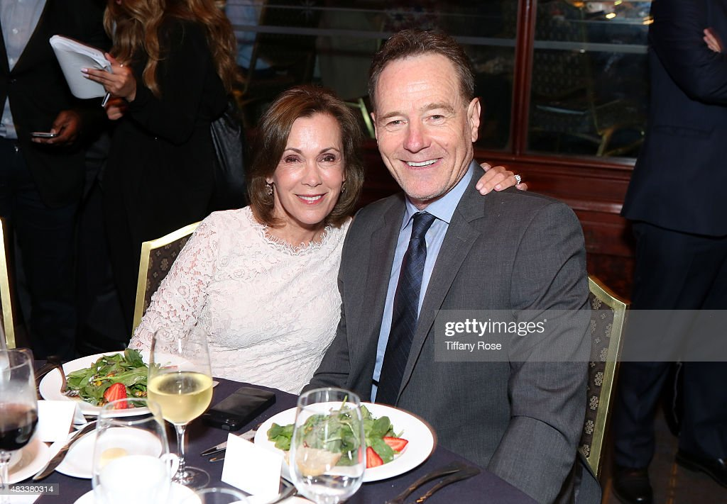 Actress Robin Dearden and actor Bryan Cranston attend the 15th annual Harold & Carole Pump Foundation gala at the Hyatt Regency Century Plaza on August 7, 2015 in Century City, California.