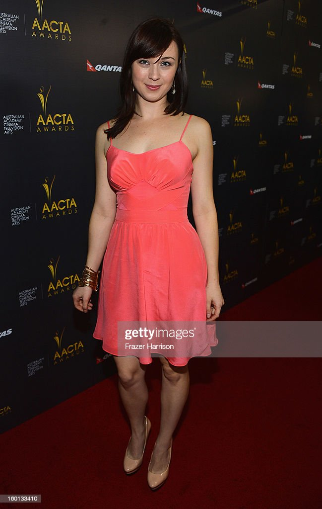 Actress Robin McLeavy arrives at the Australian Academy Of Cinema And Television Arts' 2nd AACTA International Awards at Soho House on January 26, 2013 in West Hollywood, California.