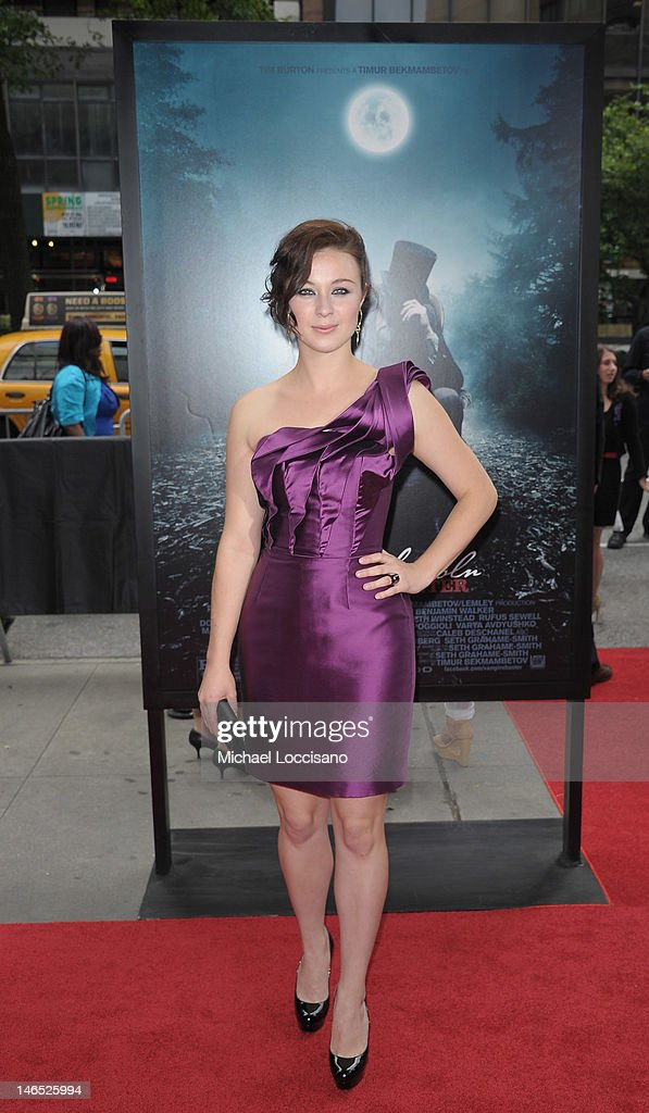 Actress Robin McLeavy attends the 'Abraham Lincoln: Vampire Slayer 3D' New York Premiere at AMC Loews Lincoln Square 13 theater on June 18, 2012 in New York City.