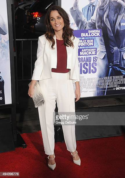 Actress Robin Tunney arrives at the premiere of Warner Bros Pictures' 'Our Brand Is Crisis' at TCL Chinese Theatre on October 26 2015 in Hollywood...