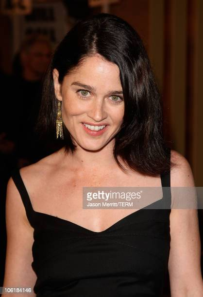 Actress Robin Tunney arrives at the 'Snow Angels' Los Angeles Premiere at The Egyptian Theater on February 28 2008 in Los Angeles California