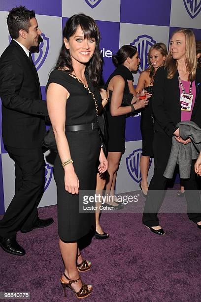 Actress Robin Tunney attends the InStyle and Warner Bros 67th Annual Golden Globes post party held at the Oasis Courtyard at The Beverly Hilton Hotel...