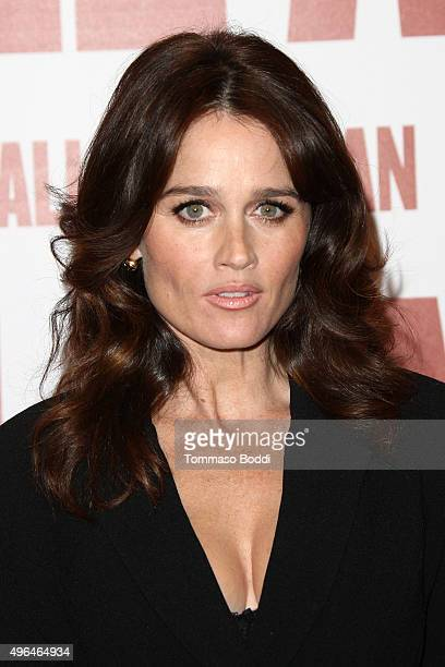 Actress Robin Tunney attends the premiere of Clarius Entertainment's 'My All American' held at The Grove on November 9 2015 in Los Angeles California