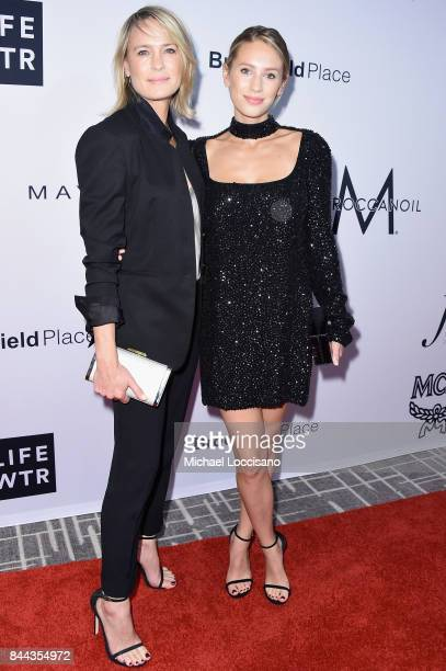 Actress Robin Wright and model Dylan Penn attend the Daily Front Row's Fashion Media Awards at Four Seasons Hotel New York Downtown on September 8...