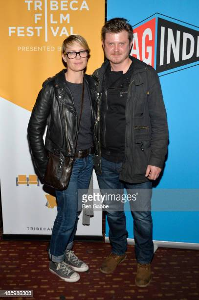 Actress Robin Wright and screenwriter Beau Willimon attend the SAG Indie Party during the 2014 Tribeca Film Festival at Bowlmor Lanes on April 21...