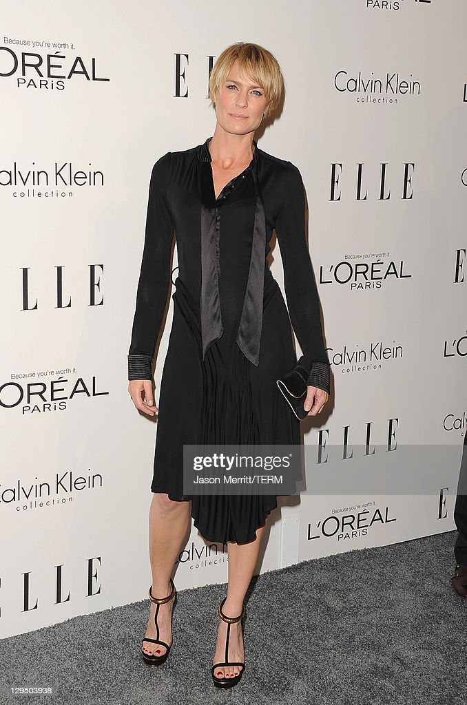 Actress Robin Wright arrives at ELLE's 18th Annual Women in Hollywood Tribute held at the Four Seasons Hotel on October 17, 2011 in Los Angeles, California.