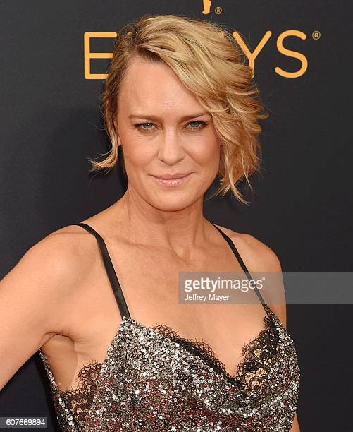 Actress Robin Wright arrives at the 68th Annual Primetime Emmy Awards at Microsoft Theater on September 18 2016 in Los Angeles California