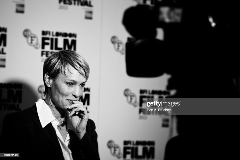 Actress Robin Wright attends a screening of 'The Congress' during the 57th BFI London Film Festival at on October 10, 2013 in London, England.