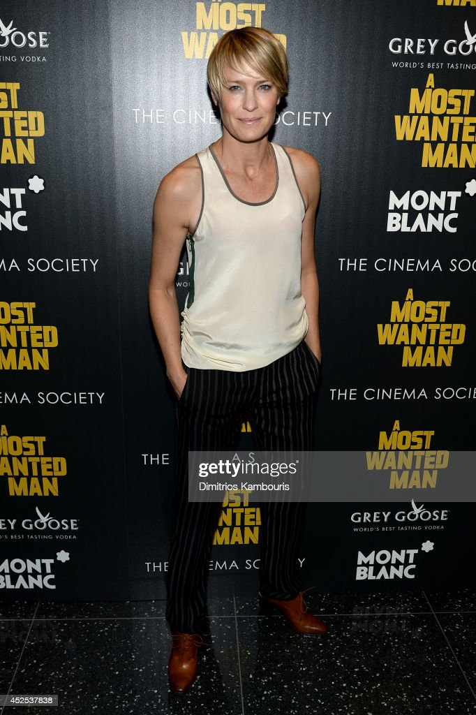 Actress <a gi-track='captionPersonalityLinkClicked' href=/galleries/search?phrase=Robin+Wright&family=editorial&specificpeople=207147 ng-click='$event.stopPropagation()'>Robin Wright</a> attends Lionsgate and Roadside Attraction's premiere of 'A Most Wanted Man' hosted by The Cinema Society and Montblanc at the Museum of Modern Art on July 22, 2014 in New York City.