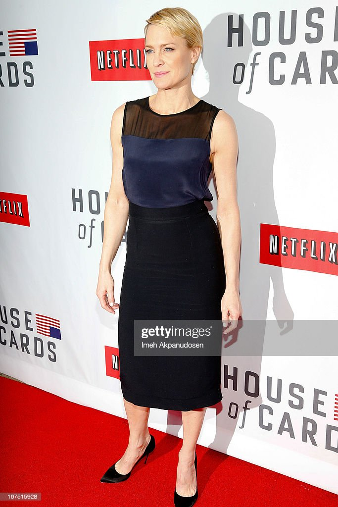 Actress Robin Wright attends Netflix's 'House Of Cards' For Your Consideration Q&A Event at Leonard H. Goldenson Theatre on April 25, 2013 in North Hollywood, California.