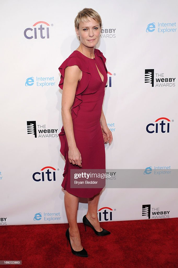 Actress Robin Wright attends the 17th Annual Webby Awards at Cipriani Wall Street on May 21, 2013 in New York City.