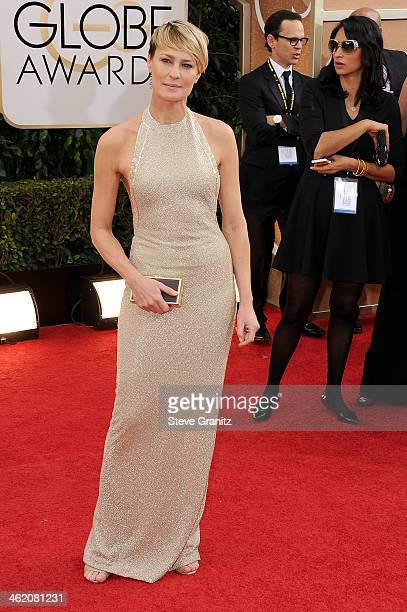Actress Robin Wright attends the 71st Annual Golden Globe Awards held at The Beverly Hilton Hotel on January 12 2014 in Beverly Hills California