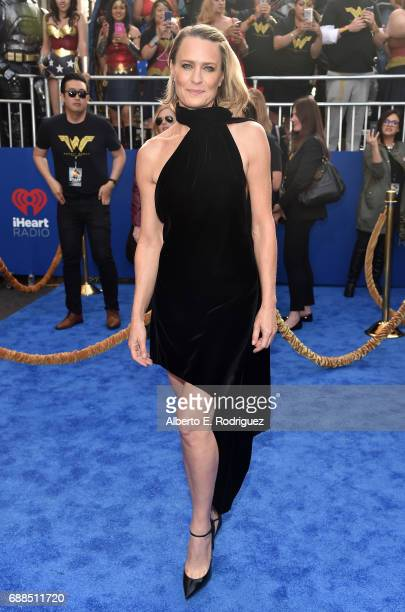 Actress Robin Wright attends the premiere of Warner Bros Pictures' 'Wonder Woman' at the Pantages Theatre on May 25 2017 in Hollywood California...