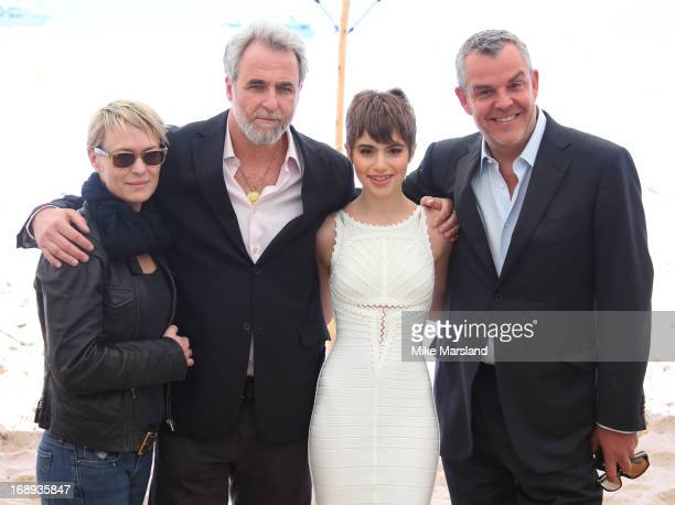 Actress Robin Wright director Ari Folman actress Sami Gayle and actor Danny Huston attend 'Le Congres' photocall during the 66th Annual Cannes Film...