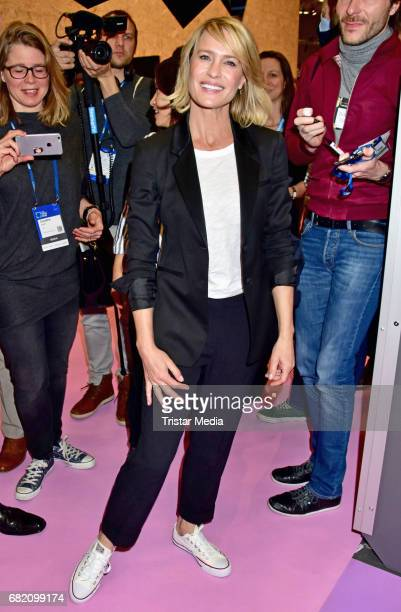 US actress Robin Wright during the Opening Cube Tech Fair at City Cube on May 11 2017 in Berlin Germany