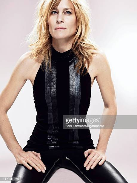 Actress Robin Wright is photographed for Madame Figaro on March 3 2011 in Paris France Published image Figaro ID 100170004 Top by Robyn Shore pants...
