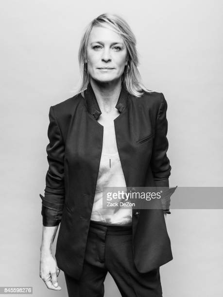 Actress Robin Wright poses for a portrait during the Daily Front Row's Fashion Media Awards at Four Seasons Hotel New York Downtown on September 8...