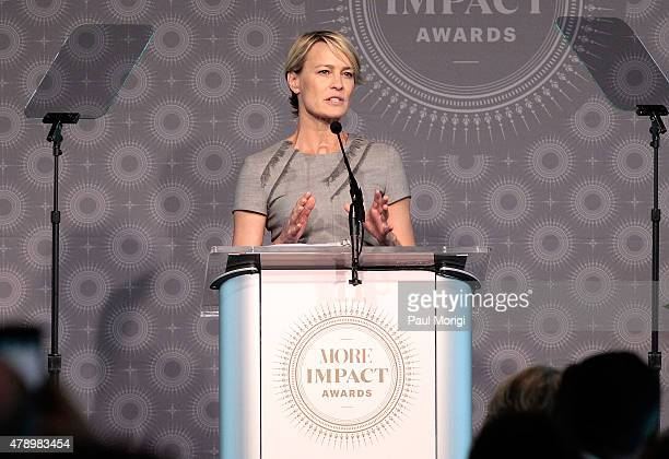 Actress Robin Wright speaks at the 2015 MORE Impact Awards Luncheon at NEWSEUM on June 29 2015 in Washington DC