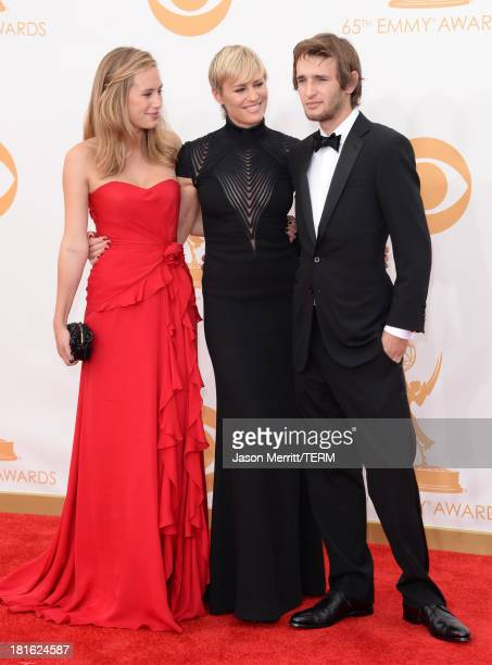 Actress Robin Wright with children Dylan Penn and Hopper Penn arrive at the 65th Annual Primetime Emmy Awards held a t Nokia Theatre LA Live on...