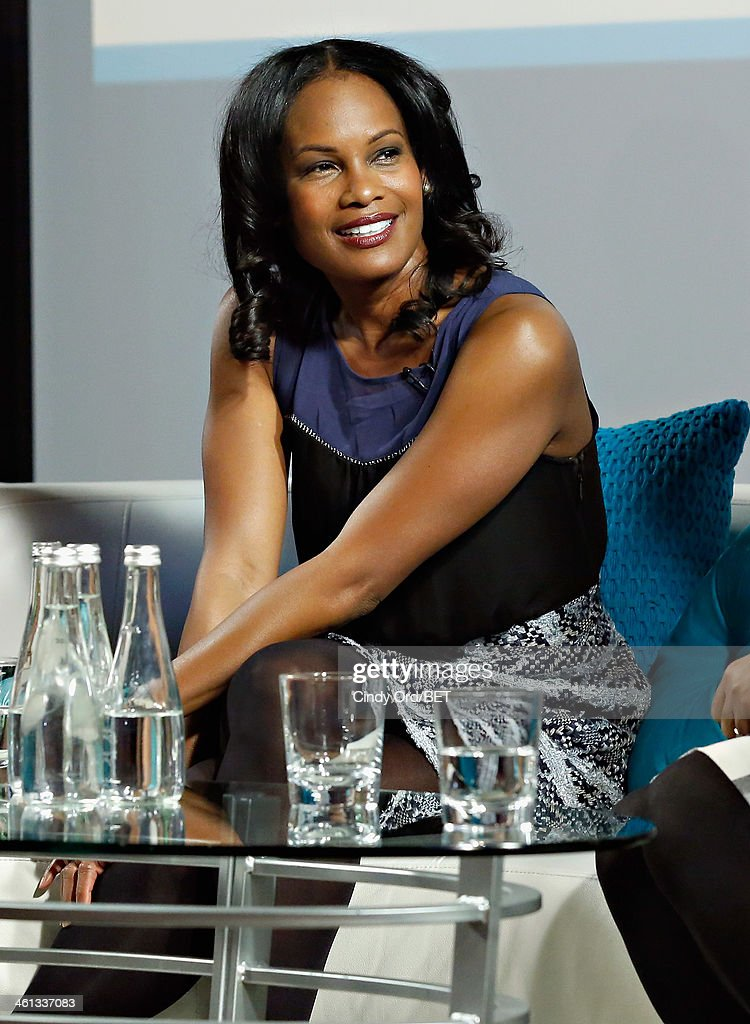 Actress Robinne Lee speaks onstage as BET Networks partners with OraQuick for 'Life As We Know It', a special panel series about relationships and an advance screening of the program 'Being Mary Jane' at The Crosby Hotel on January 7, 2014 in New York City.
