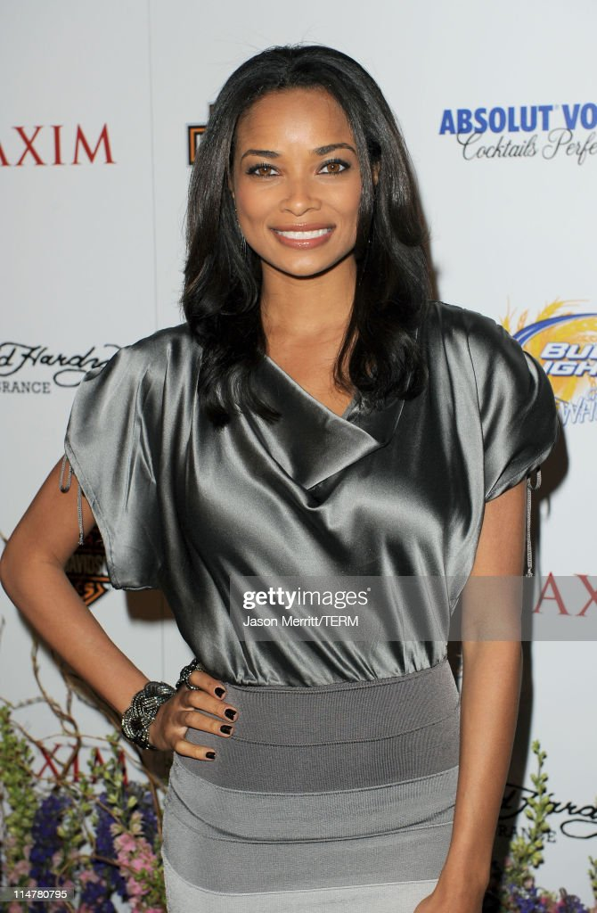 Actress Rochelle Aytes arrives at the 11th annual Maxim Hot 100 Party with HarleyDavidson ABSOLUT VODKA Ed Hardy Fragrances and ROGAINE held at...