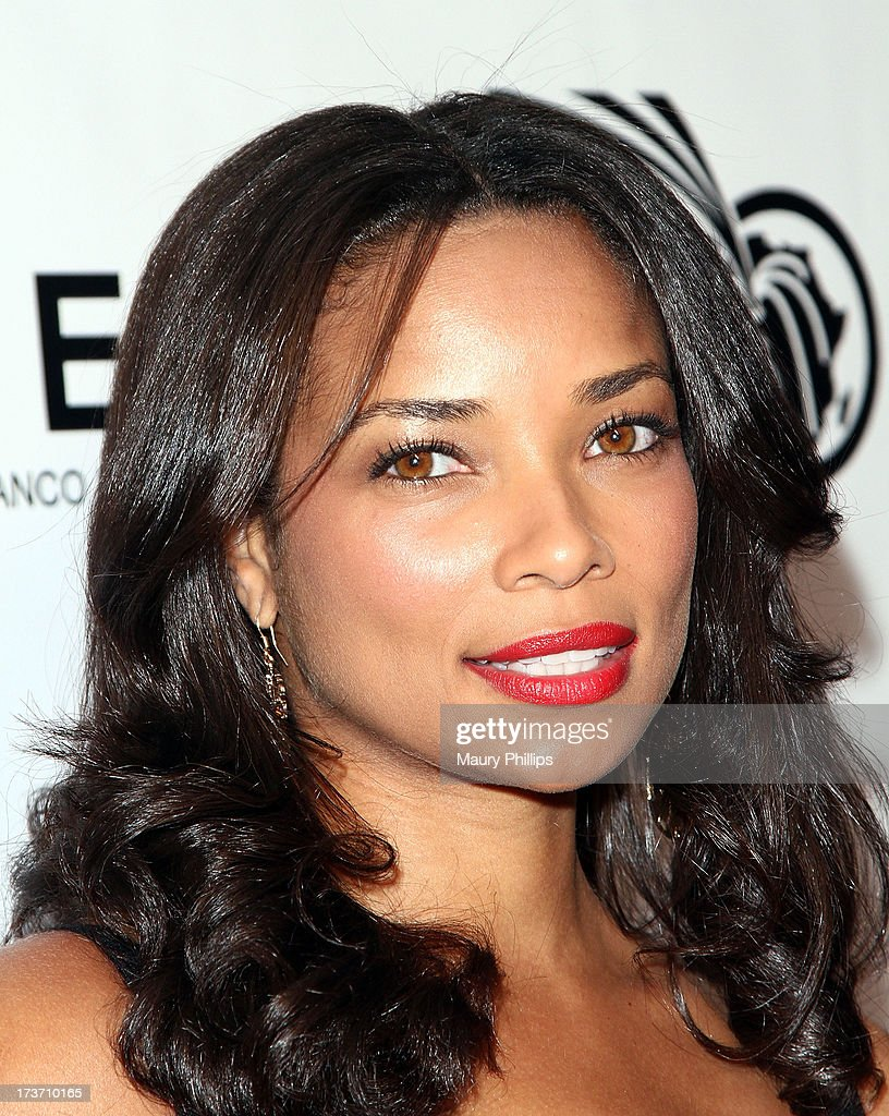 Actress <a gi-track='captionPersonalityLinkClicked' href=/galleries/search?phrase=Rochelle+Aytes&family=editorial&specificpeople=843599 ng-click='$event.stopPropagation()'>Rochelle Aytes</a> arrives at The GEANCO Foundation's 'Impact Africa' Fundraiser at Bootsy Bellows on July 16, 2013 in West Hollywood, California.