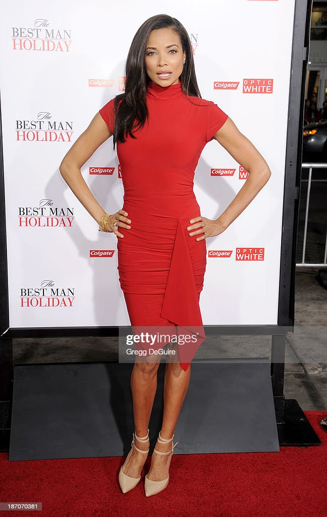 Actress Rochelle Aytes arrives at the Los Angeles premiere of 'The Best Man Holiday' at TCL Chinese Theatre on November 5 2013 in Hollywood California