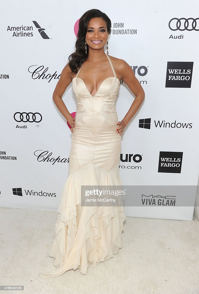 Actress Rochelle Aytes attends the 22nd Annual Elton John AIDS Foundation Academy Awards Viewing Party at The City of West Hollywood Park on March 2, 2014 in West Hollywood, California.