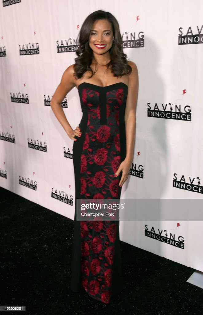Actress <a gi-track='captionPersonalityLinkClicked' href=/galleries/search?phrase=Rochelle+Aytes&family=editorial&specificpeople=843599 ng-click='$event.stopPropagation()'>Rochelle Aytes</a> attends the 2nd Annual Saving Innocence Gala at The Crossing on December 5, 2013 in Los Angeles, California.