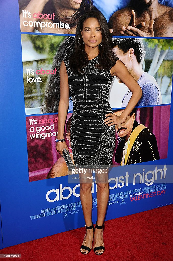 Actress Rochelle Aytes attends the Pan African Film Arts Festival premiere of 'About Last Night' at ArcLight Cinemas Cinerama Dome on February 11...