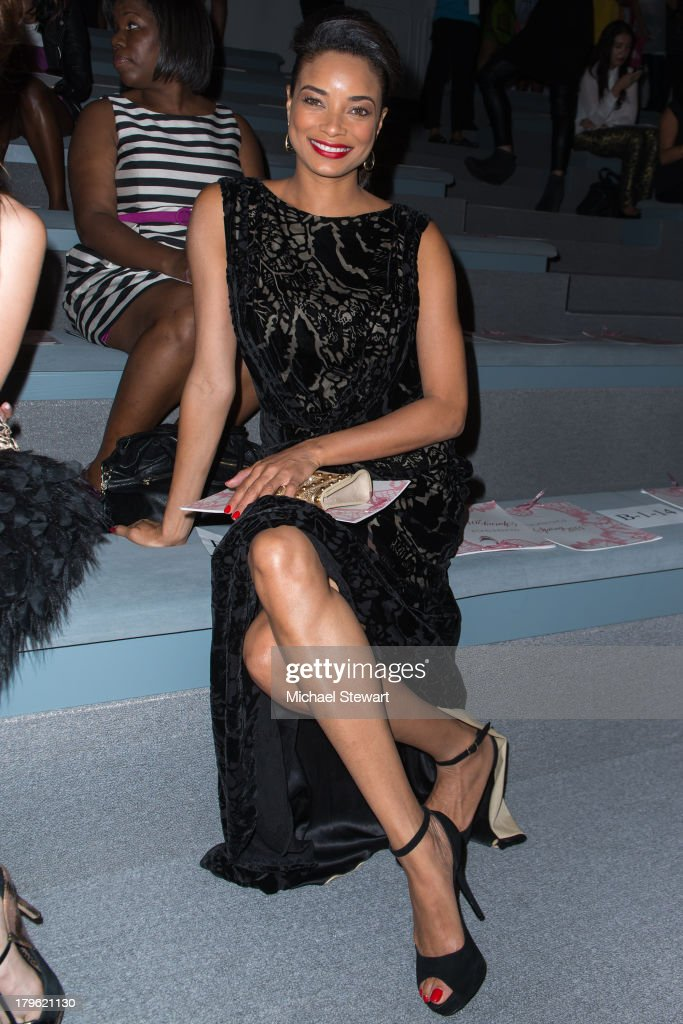 Actress Rochelle Aytes attends the Tadashi Shoji show during Spring 2014 MercedesBenz Fashion Week at The Stage at Lincoln Center on September 5 2013...
