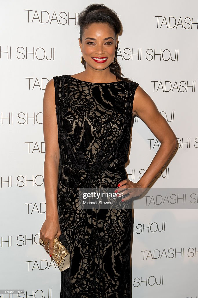 Actress Rochelle Aytes attends the Tadashi Shoji show during Spring 2014 Mercedes-Benz Fashion Week at The Stage at Lincoln Center on September 5, 2013 in New York City.