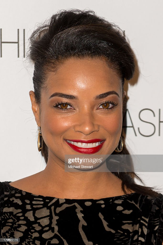 Actress <a gi-track='captionPersonalityLinkClicked' href=/galleries/search?phrase=Rochelle+Aytes&family=editorial&specificpeople=843599 ng-click='$event.stopPropagation()'>Rochelle Aytes</a> attends the Tadashi Shoji show during Spring 2014 Mercedes-Benz Fashion Week at The Stage at Lincoln Center on September 5, 2013 in New York City.